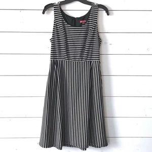 Merona Black White Striped Sleeveless Dress
